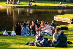 MELBOURNE, AUSTRALIA - MAY 17: Melbournians flock to the newly reopened Botanical Gardens as restrictions are being eased in Victoria during COVID 19 on 17 May, 2020 in Melbourne, Australia. (Photo by Speed Media/Icon Sportswire)