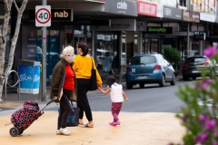 Locals cross the road on Puckle street during COVID-19 in Melbourne, Australia.  Premier Daniel Andrews continues to mislead the public regarding the Hotel Quarantine fiasco amid fresh evidence emerging that he lied to a parliamentary enquiry about whether ADF was offered by the Federal Government. Victoria recorded a further 42 cases overnight.